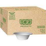 Eco-Products 12-oz. Sugarcane Bowls - 12 fl oz Bowl - Sugarcane Fiber Bowl - Microwave Safe - 1000 P ECOEPBL12CT