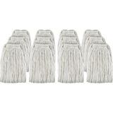 Genuine Joe Cotton Blend Mop Head Refill - Rayon, Cotton Fiber, Polyester Fiber GJO48259CT