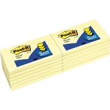 "Post-it Pop-up Notes, 3 in x 5 in, Canary Yellow - 1200 x Canary Yellow - 3"" x 5"" - Rectangle - 100  MMMR350YWPK"