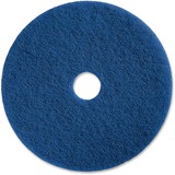 "Genuine Joe 20"" Medium-duty Blue Scrubbing Floor Pad - 20"" Diameter - 5/Carton - Blue GJO90620"