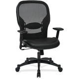 """Office Star Professional Managers Chair - Leather Seat - 5-star Base - Black - 20"""" Seat Width x 19.5 OSP2400E"""