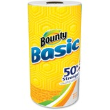 Bounty Basic Paper Towel Roll - 1 Ply - 44 Sheets/Roll - White - Durable, Perforated, Absorbent - Fo PGC92976