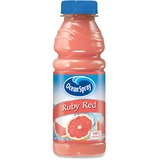 Ocean Spray Bottled Ruby Red Juice - Grapefruit Flavor - 15.20 fl oz - Bottle - 12 / Carton PEP123375