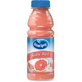 Ocean Spray Bottled Ruby Red Juice - Grapefruit Flavor - 15.20 fl oz - Bottle - 12 / Carton PEP123375