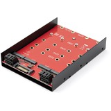 StarTech.com 4x M.2 SATA Mounting Adapter for 3.5in Drive Bay - 4-Drive M.2 SSD to SATA Adapter