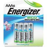 Energizer EcoAdvanced AAA Batteries - AAA - Alkaline - 6 / Pack EVEXR92BP6