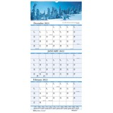 House of Doolittle™ Recycled Scenic Compact Three-Month Horizontal Wall Calendar, 8 x 17, 2016-2018 HOD3636