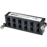 Tripp Lite 100Gb/120Gb Pass-Through Cassette - (x12) 24-Fiber MTP/MPO