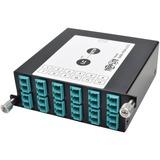Tripp Lite 100Gb/120Gb to10Gb Breakout Cassette, 24-Fiber MTP/MPO to ( x12 ) LC Duplex