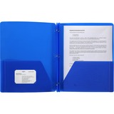 BSN20886 - Business Source 3-Hole Punched Poly Portfolios