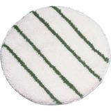 "Rubbermaid Commercial Green Scrub 17"" Carpet Bonnet - 17"" Diameter - 1Each - White RCPP26700WH"