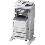 Oki MB770f+ LED Multifunction Printer - Monochrome - Plain Paper Print - Floor Standing