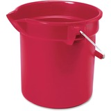 """Rubbermaid Commercial Brute Utility Bucket - 10 quart - 10.2"""" - Red RCP296300RD"""