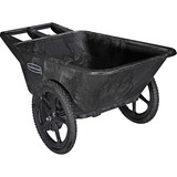 Rubbermaid Commercial Big Wheel Cart - 300 lb Capacity - 2 Casters - High-density Polyethylene (HDPE RCP564200BK
