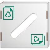 "Paper Recycling Lid, 6""H x 18.25""W x 18.25""D - Rectangular - Corrugated Paper - 10 / Carton - White FEL7320301"