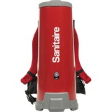 "Sanitaire 10Q Backpack Vacuum - 1.50 gal - 60"" Hose Length - HEPA - Red EUR530B"