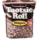 Tootsie Midgees - Chocolate - Individually Wrapped, Gluten-free, Peanut-free - 5 lb - 1 Bag AVTSN884580