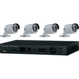Interlogix 8-Channel HD-Hybrid DVR w/4 1080p IR Bullet Cameras Kit
