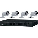 Interlogix 4-Channel HD-Hybrid DVR w/4 720p IR Bullet Cameras Kit