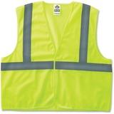 GloWear Ergodyne GloWear Class 2 Lime Super Econo Vest - Large/Extra Large Size - Polyester Mesh - L EGO20975