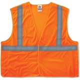 GloWear Ergodyne GloWear Orange Econo Breakaway Vest - Small/Medium Size - Polyester Mesh - Orange - EGO21063