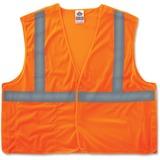 GloWear Ergodyne GloWear Orange Econo Breakaway Vest - Large/Extra Large Size - Polyester Mesh - Ora EGO21065