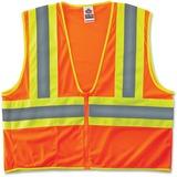 GloWear Ergodyne GloWear Class 2 Two-tone Orange Vest - 2-Xtra Large/3-Xtra Large Size - Polyester M EGO21307