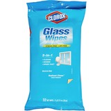 Clorox 3-in-1 Radiant Clean Glass Wipes - Wipe - Radiant Clean, Fresh Scent - 32 - 1 Each - White CLO31196