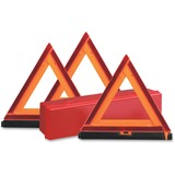 Deflect-o Early Warning Triangle Kit - 1 Each - Triangle Shape - Fluorescent, Non-flammable - Orange DEF73071100
