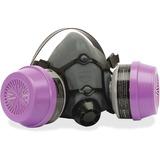 NORTH OV/P100 Organic Vapor Half Mask - Medium Size - Particulate Protection - Gray - 1 Each HWL5581P100M