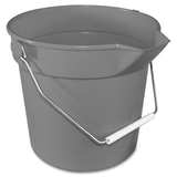 "Impact Products Deluxe Heavy Duty Bucket - 10 quart - Polypropylene - 10.3"" x 11"" - Gray IMP5510"