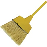Impact Products Large Angled Plastic Broom - 1 Each - Plastic, Aluminum - Yellow IMP91527B