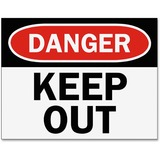 Tarifold Safety Sign Inserts-Danger Keep Out - 6 / Pack - Danger Keep Out Print/Message - Black, Whi TFIP1949KP