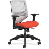 "HON Solve Seating Platinum Back Task Chair - Platinum Back - 5-star Base - Red - 29.8"" Width x 28.8"" HONSVMR1APLCO46"