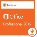 Microsoft Office 2016 Professional - License - 1 PC - Word, Excel, PowerPoint, OneNote, Outlook, Access and Publisher