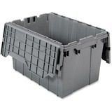 "Akro-Mils Attached Lid Container - Internal Dimensions: 12"" Height - External Dimensions: 21.5"" Leng AKM39120GREY"