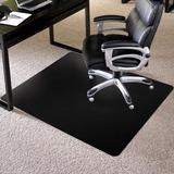 "ES Robbins TrendSetter Carpet Chairmat - Carpet - 48"" Length x 36"" Width - Rectangle - Black ESR128012"