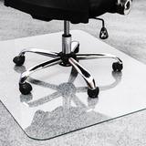 "Cleartex Glaciermat Glass Chair Mat - Hard Floor, Home, Office, Carpet - 53"" Length x 40"" Width - Re FLR124053EG"