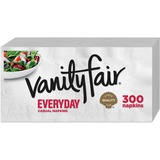 Vanity Fair Everyday Napkins - 2 Ply - White - Paper - Soft, Strong, Absorbent - For Breakfast, Dinn GPC3550314