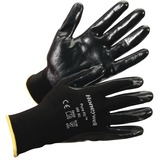 Honeywell Pure Fit Dipped General Gloves - Nitrile Coating - Large Size - Synthetic Fiber, Nylon Lin HWL380L
