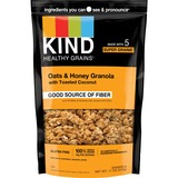KIND Healthy Grains Oats/Honey Clusters Snack - Gluten-free, Non-GMO, Cholesterol-free, Resealable C KND17286