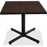 "Lorell Hospitality Espresso Laminate Square Tabletop - Square Top - 42"" Table Top Length x 42"" Table LLR62588"