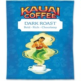 Office Snax Kauai Dark Roast Coffee - Caffeinated - Hawaiian Blend - Dark - 2.3 oz - 24 Packet - 24  OFX16173
