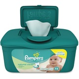 Pampers Natural Clean Wipes Tub - Green - Unscented, Hypoallergenic, Soft, Strong, Durable - For Ski PGC28252