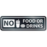 "U.S. Stamp & Sign No Food Or Drinks Window Sign - 1 Each - NO FOOD OR DRINKS Print/Message - 2.5"" Wi USS9434"