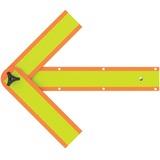 "Deflect-o Reflective Safety Arrow - 1 Each - 18"" Width x 2.8"" Height - Arrow Shape - Magnetic, Folda DEFSA2034C"