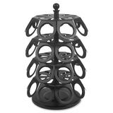 Genuine Joe Coffee Pod Holder - Steel - 1 Each - Black GJO39408