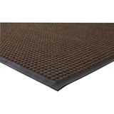 "Genuine Joe WaterGuard Floor Mat - 10 ft Length x 36"" Width - Rectangle - Rubber - Brown GJO59461"