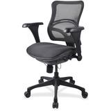 "Lorell Mid-back Fabric Seat Chairs - Plastic Black Frame - 5-star Base - Black - Fabric - 20.10"" Sea LLR20978"