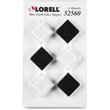 LLR52560 - Lorell Square Glass Cap Rare Earth Magnets